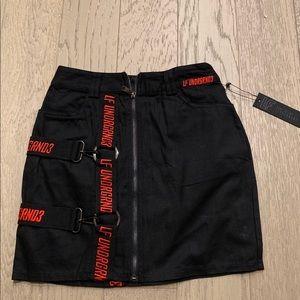 LF the brand undrgrnd3 black skirt 6